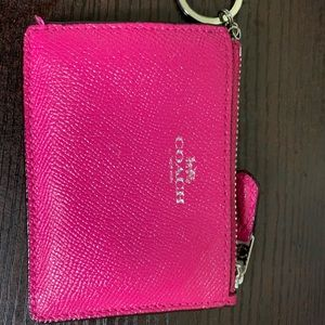 COACH keychain coin purse with ID window